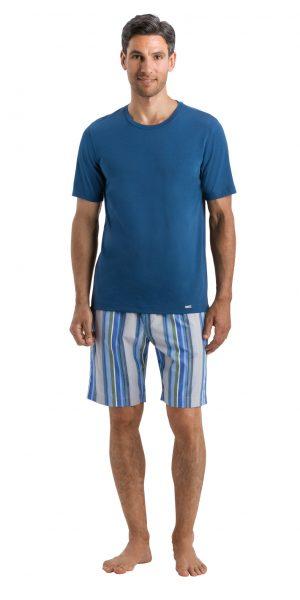 HANRO (75050) Living Short Sleeve Shirt - Dark Sea S