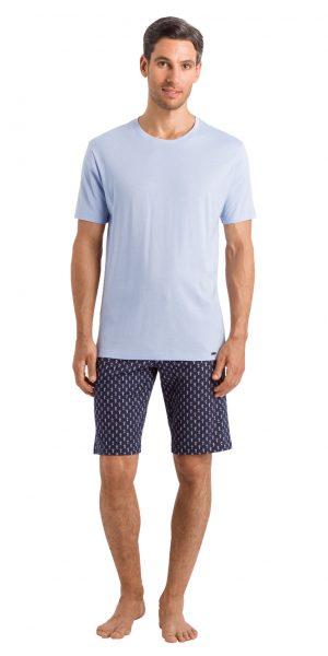 HANRO Night & Day S/SLV Shirt - Summer Blue S - 75430