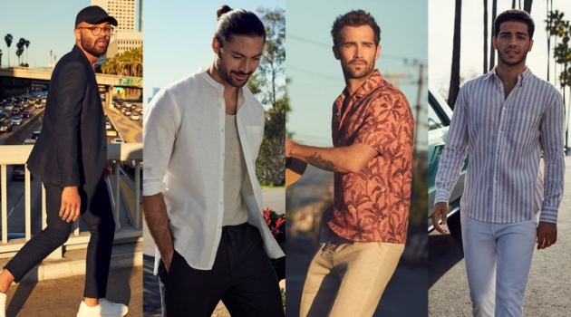 H&M highlights its men's linen fashions with a new outing.