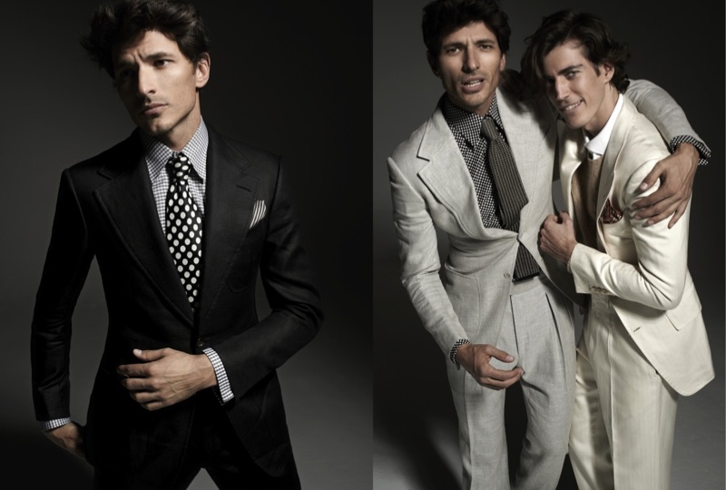 Andres Velencoso and Oriol Elcacho photographed by Xevi Muntané for Harper's Bazaar Spain.