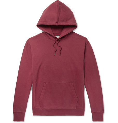 3613a5eaa J.Crew – Loopback Cotton-Jersey Hoodie – Men – Burgundy | The ...