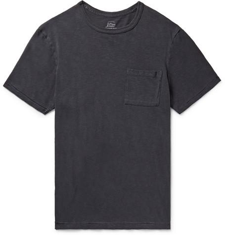 J.Crew - Slim-Fit Garment-Dyed Slub Cotton-Jersey T-Shirt - Men - Navy