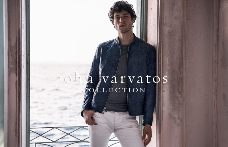 John Varvatos enlists Miles McMillan to front its spring-summer 2019 outing.
