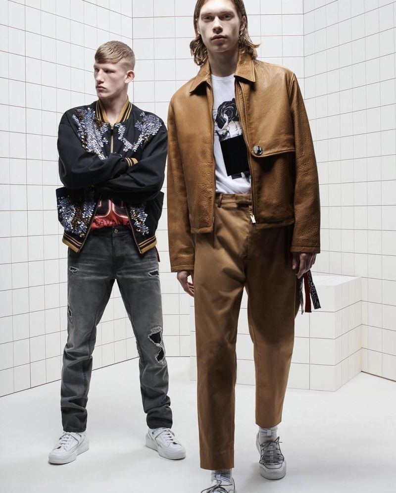 Connor Newall and Kit Warrington front Just Cavalli's spring-summer 2019 campaign.