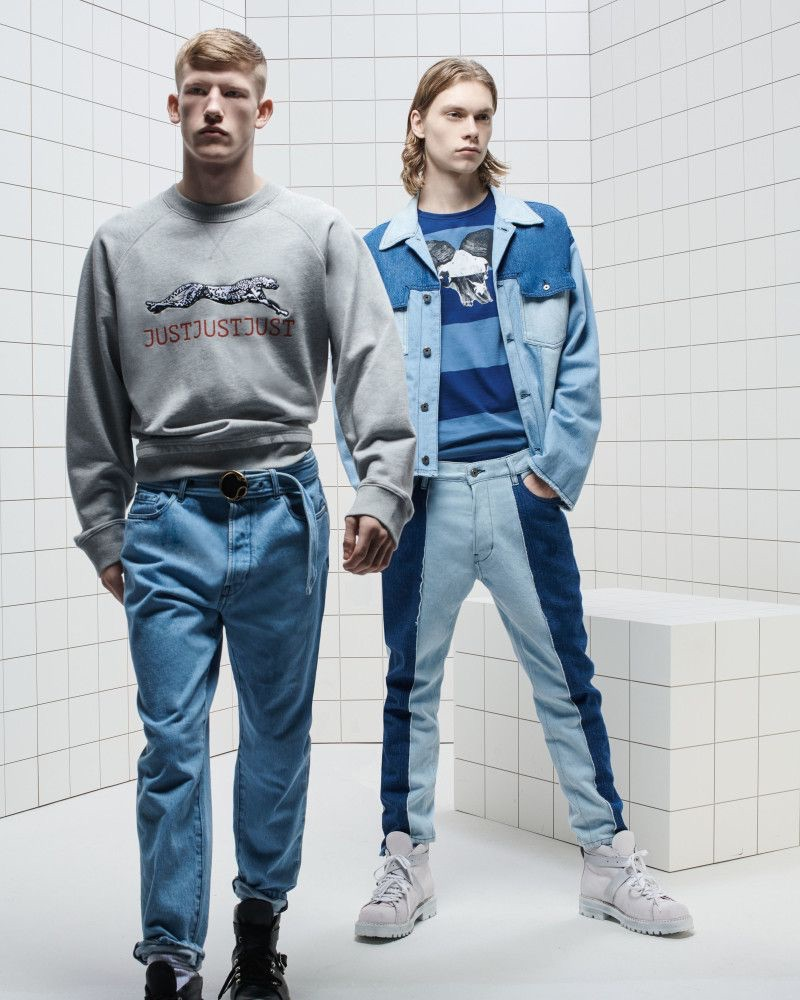 Sporting denim, Connor Newall and Kit Warrington star in Just Cavalli's spring-summer 2019 campaign.