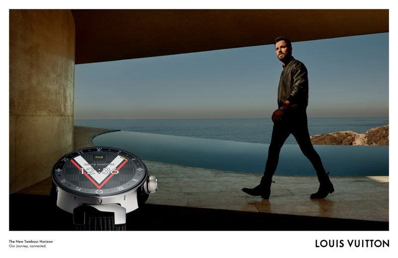 Justin Theroux stars in Louis Vuitton's Tambour Horizon campaign.