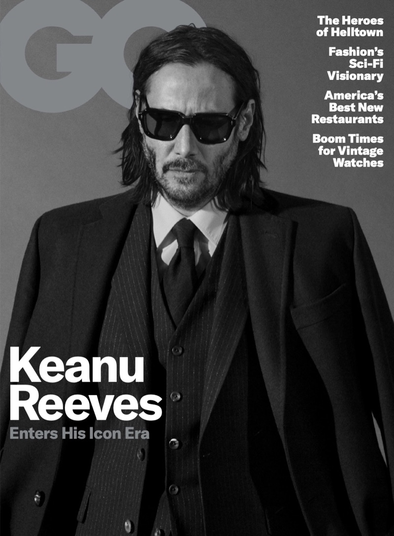 Keanu Reeves covers the May 2019 issue of American GQ.