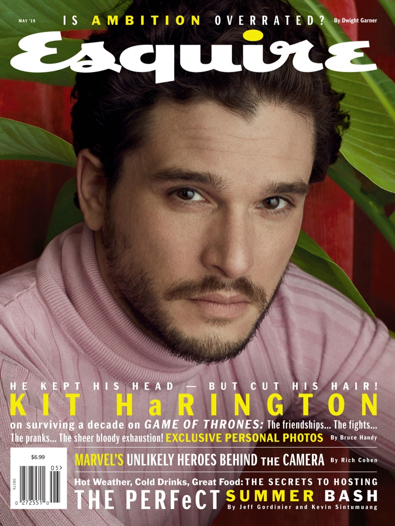 Kit Harington covers the May 2019 issue of Esquire.