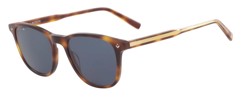 Lacoste x Novak Djokovic Collection Plastic Petit Pique Sunglasses in Demi Torto 218