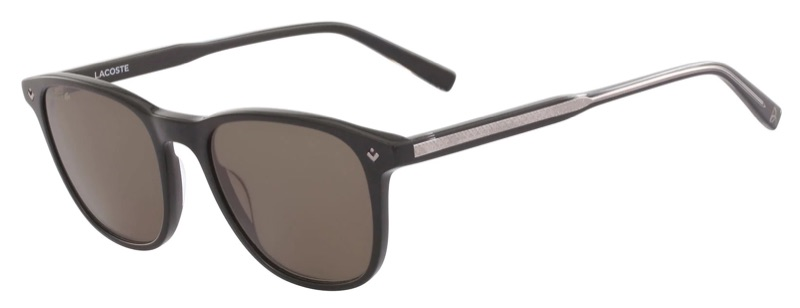 Lacoste x Novak Djokovic Collection Plastic Petit Pique Sunglasses in Matt Black 001