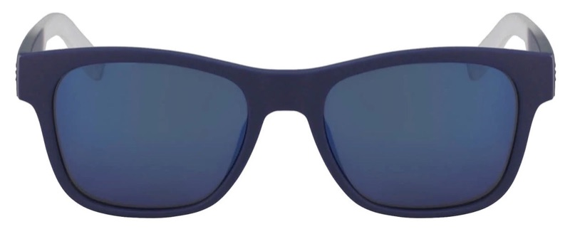 Lacoste x Novak Djokovic Collection Unisex Plastic Rectangular Sunglasses in Blue 424