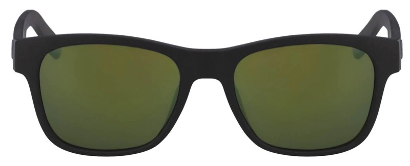 Lacoste x Novak Djokovic Collection Unisex Plastic Rectangular Sunglasses in Matt Black 001