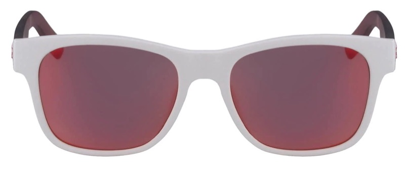 Lacoste x Novak Djokovic Collection Unisex Plastic Rectangular Sunglasses in White 105