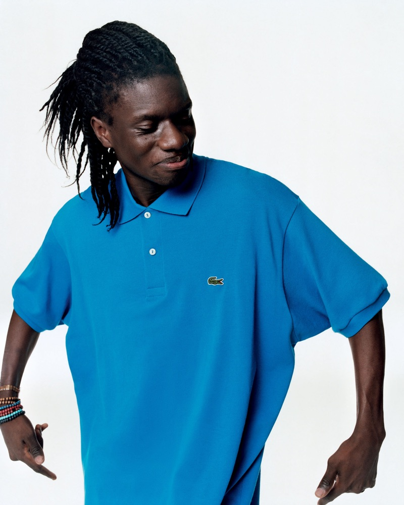 Salif Gueye connects with Lacoste for its spring-summer 2019 campaign.