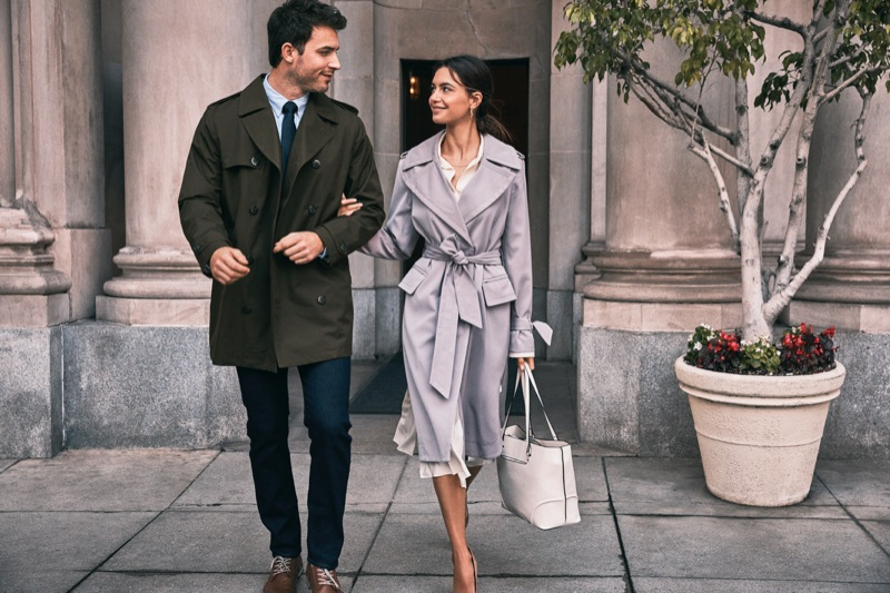 Models Anthony David and Iliana C. couple up for London Fog's spring-summer 2019 campaign.
