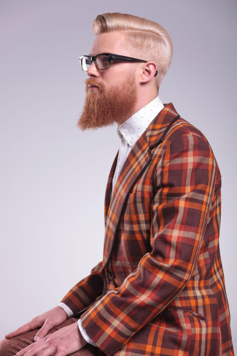 Male Model Beard Groomed Hairstyle
