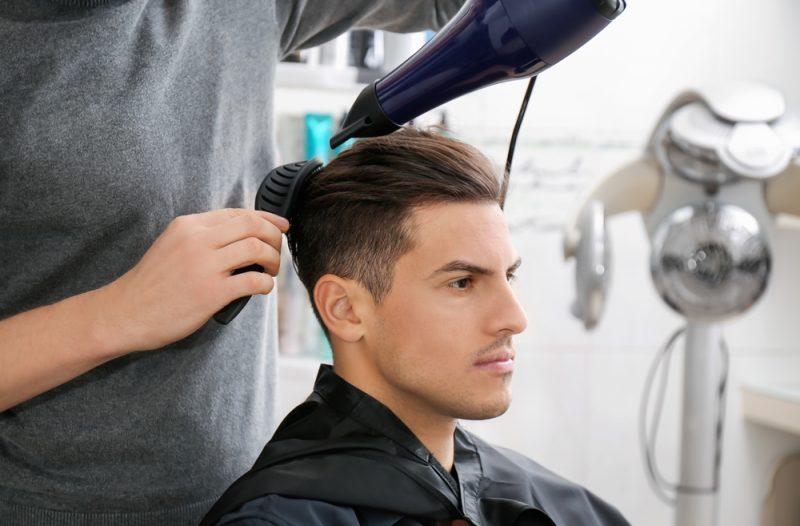 Man Getting Hair Done