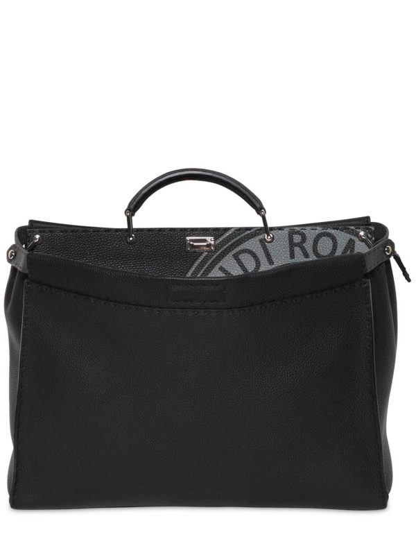Medium Peekaboo Tumbled Leather Bag