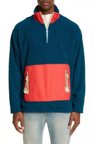 Men's Acne Studios Faraz Colorblock Fleece Pullover, Size Small - Blue
