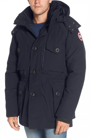Men's Canada Goose Drummond Regular Fit 3-In-1 Parka, Size X-Small - Blue