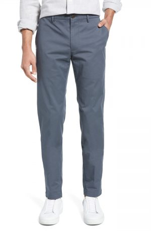 Men's Club Monaco Connor Trim Fit Stretch Cotton Chino Pants, Size 36 x 32 - Blue