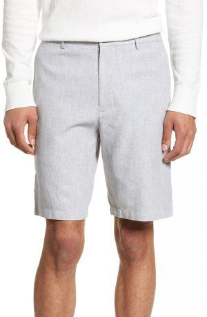 Men's Club Monaco Maddox Leaf Slim Fit Shorts, Size 28 - Grey