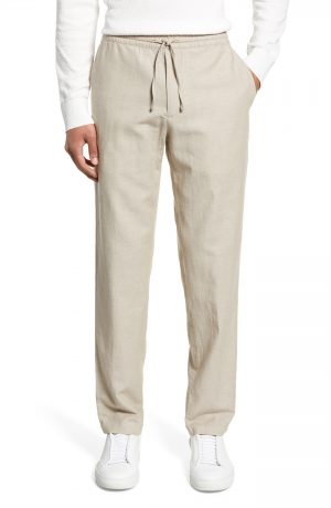 Men's Club Monaco Slim Fit Beach Pants, Size X-Small - Beige