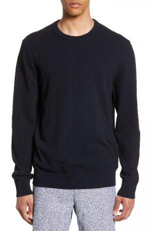Men's Club Monaco Slim Fit Boucle Sweater, Size Small - Blue