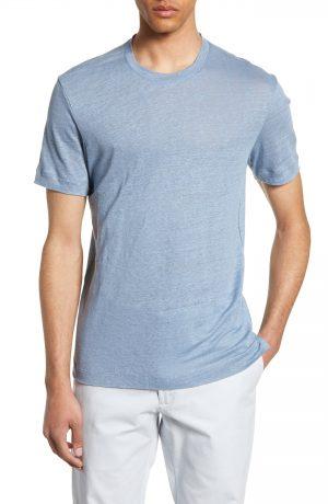 Men's Club Monaco Slim Fit Linen Crewneck T-Shirt, Size X-Small - Blue