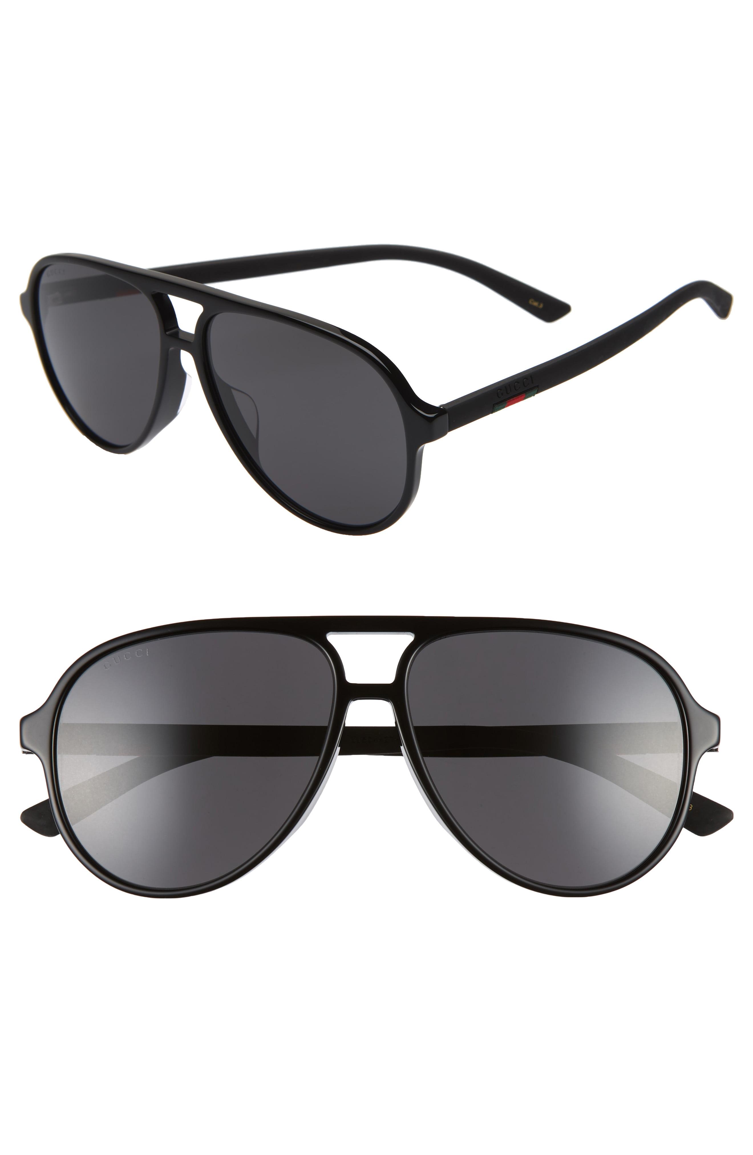 18654ba8c90 Men s Gucci 60Mm Aviator Sunglasses –
