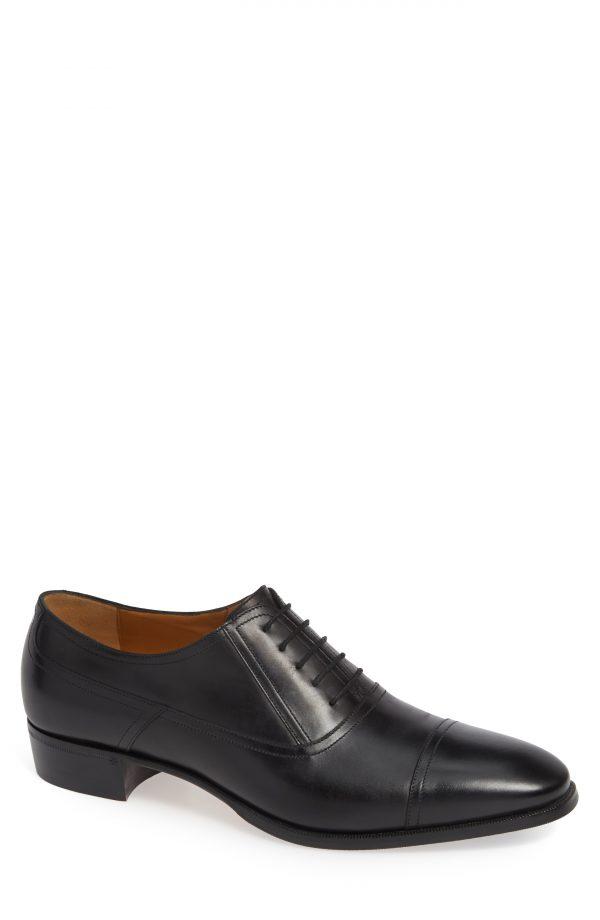 Men's Gucci Plata Cap Toe Oxford, Size 8US / 7UK - Black
