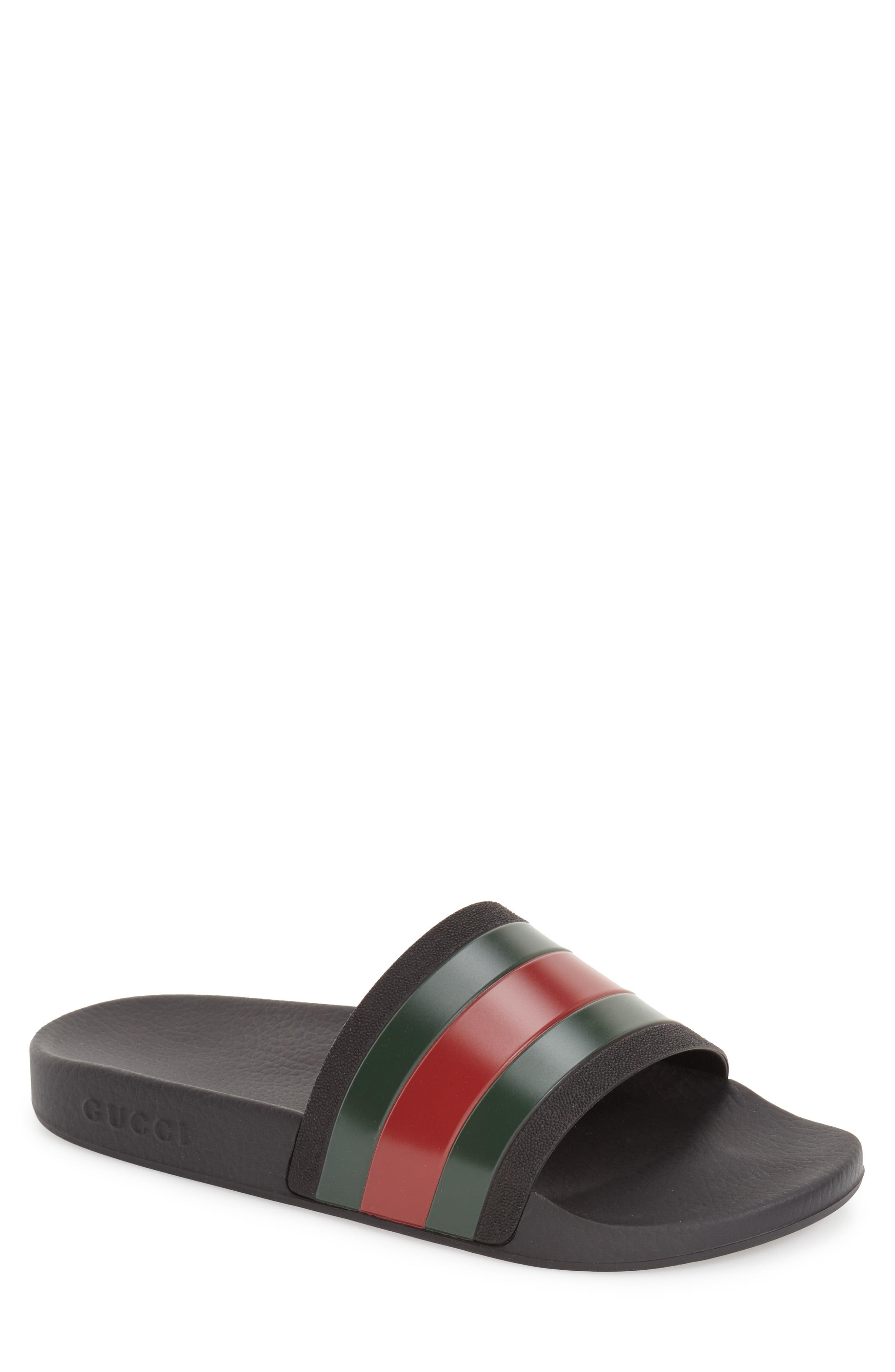 d3f10be2b3a1 Men s Gucci Pursuit Rubber Slide Sandal
