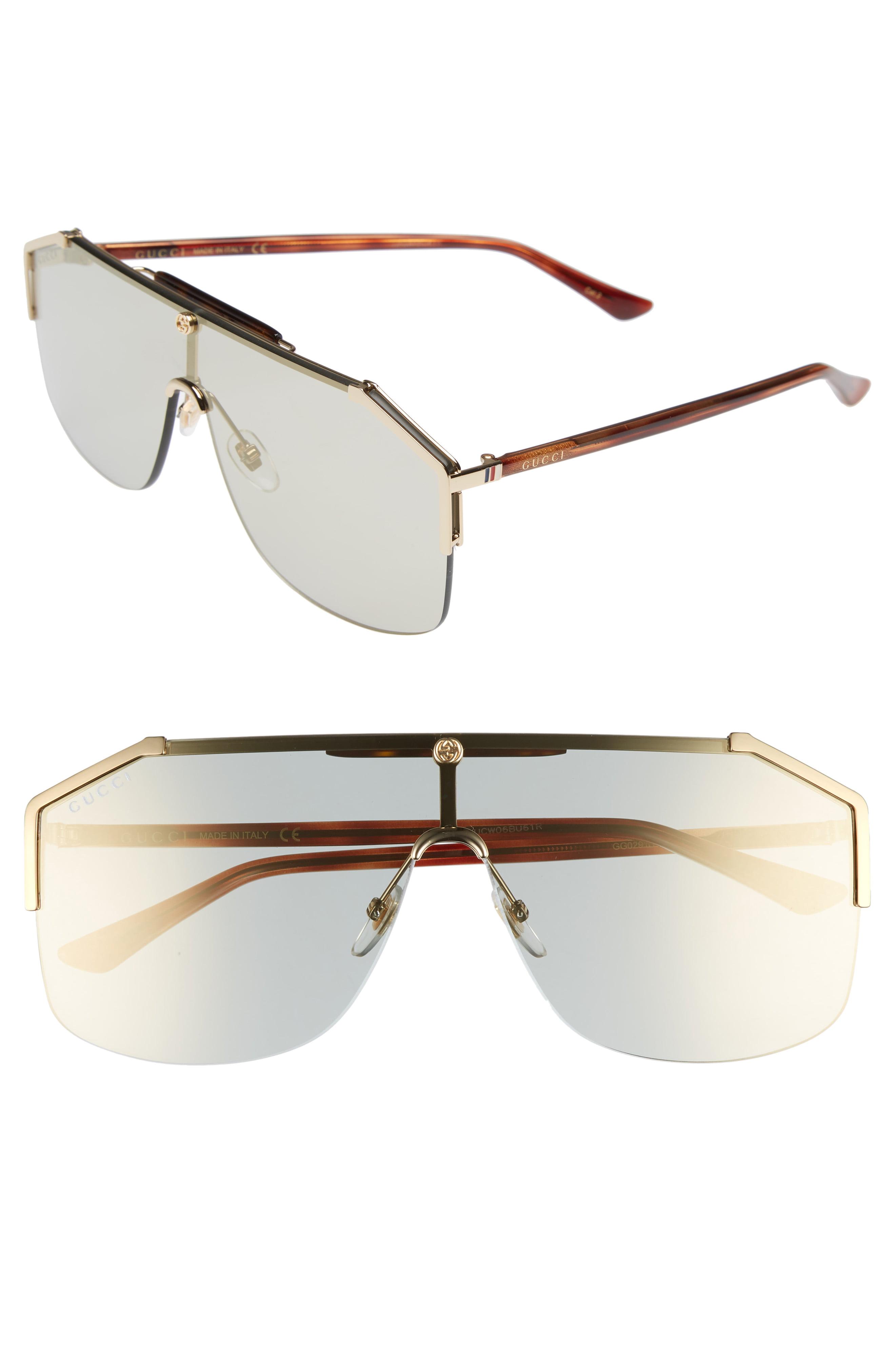 d4d809e108f75 Men s Gucci Retro Web Shield 62Mm Sunglasses –