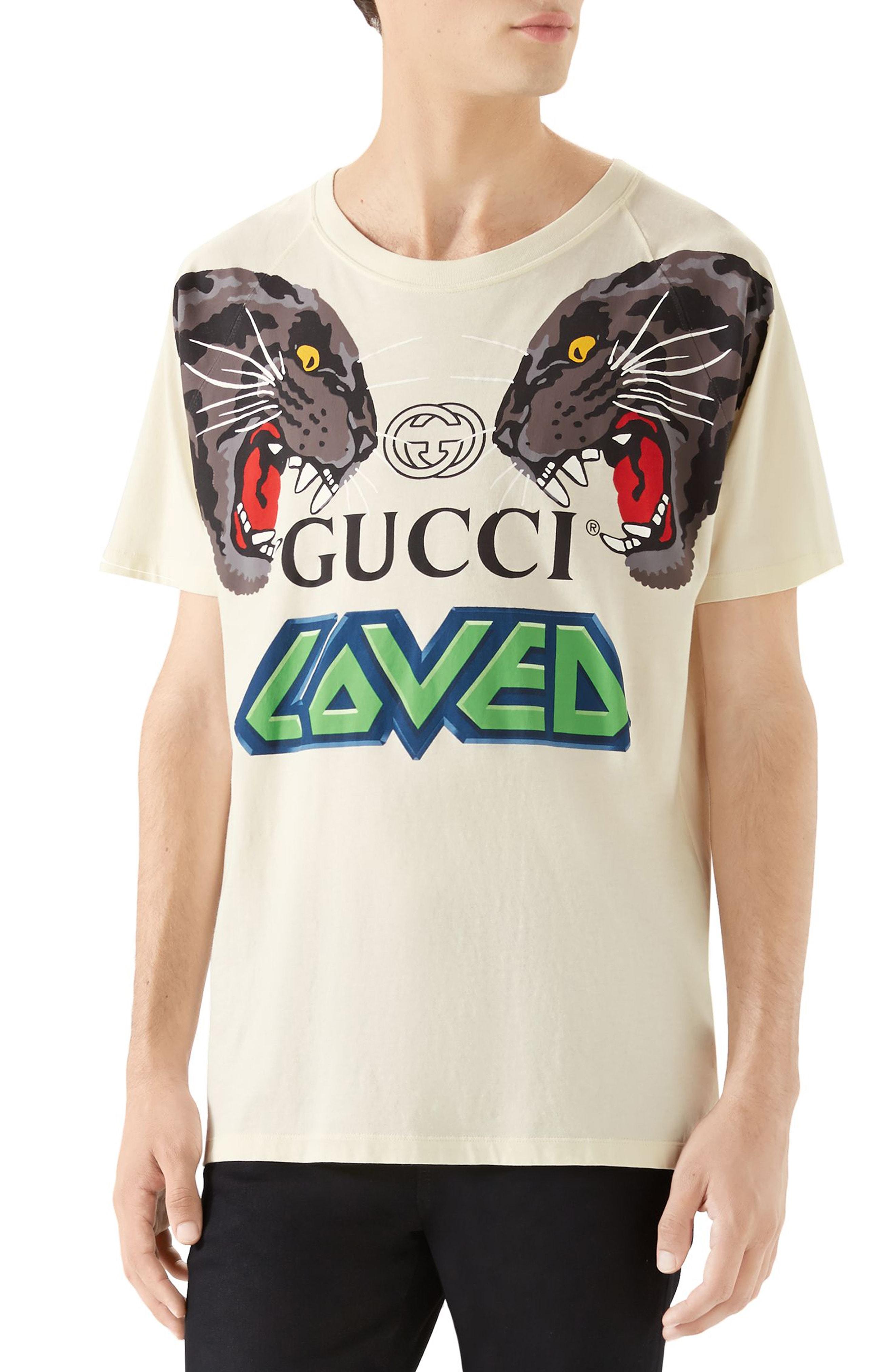 b610d31a Men's Gucci Tiger Print T-Shirt, Size Small – Yellow | The Fashionisto