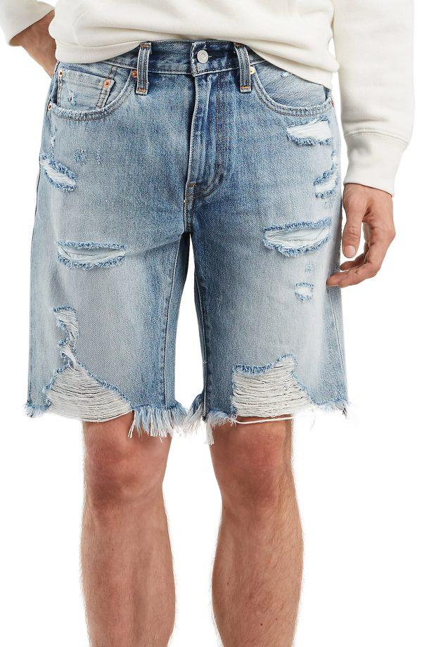 Men's Levi's 502(TM) Tapered Cutoff Shorts, Size 29 - Blue