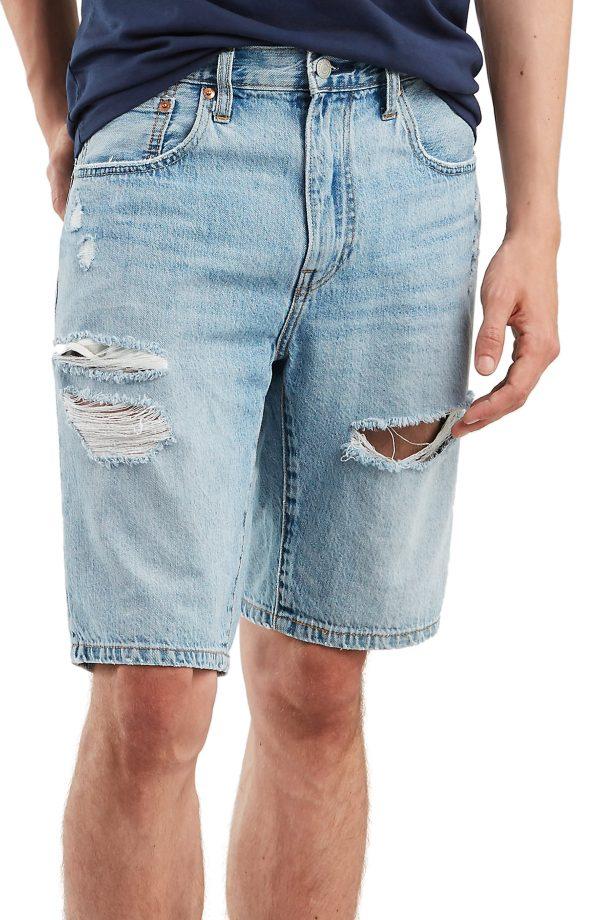 Men's Levi's 502(TM) Tapered Denim Shorts, Size 29 - Blue