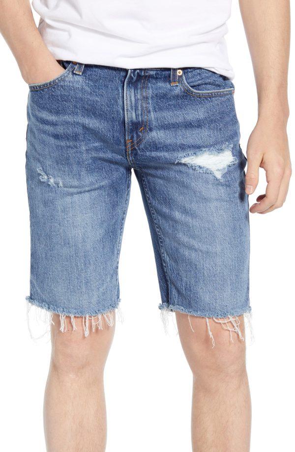 Men's Levi's 511(TM) Slim Fit Cut Off Denim Shorts, Size 29 - Blue