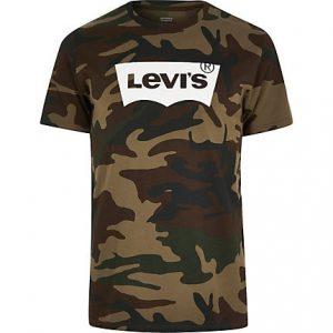 Mens Levi's Khaki camo T-shirt
