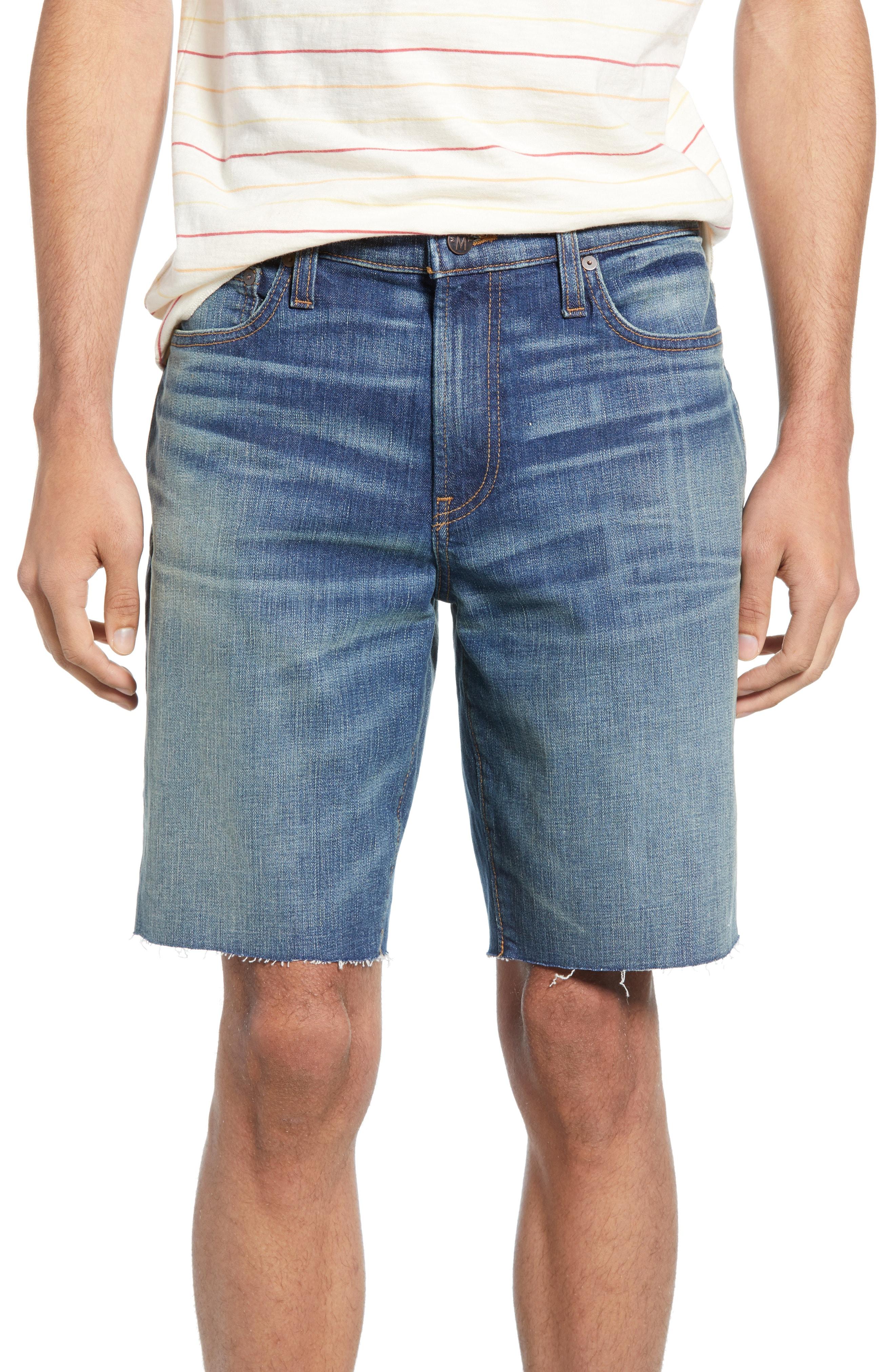 a7a209a8 Men's Madewell Cutoff Denim Shorts, Size 28 32 – Blue   The Fashionisto