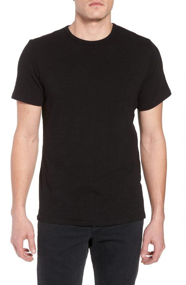 Men's Rag & Bone Classic Crewneck Cotton T-Shirt, Size Small - Black