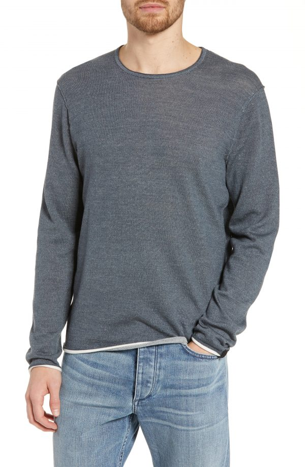 Men's Rag & Bone Dean Slim Fit Crewneck Sweater, Size Medium - Blue