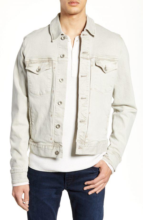 Men's Rag & Bone Definitive Denim Jacket, Size Small - Beige