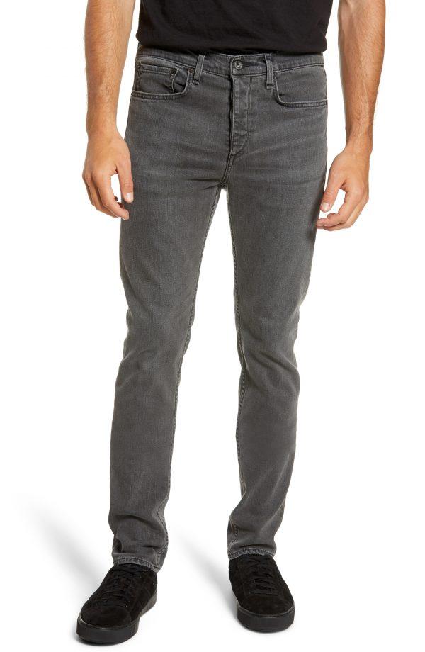 Men's Rag & Bone Fit 2 Slim Fit Jeans, Size 33 - Black