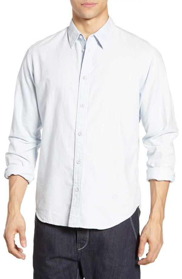 Men's Rag & Bone Fit 2 Tomlin Slim Fit Sport Shirt, Size Medium - Blue