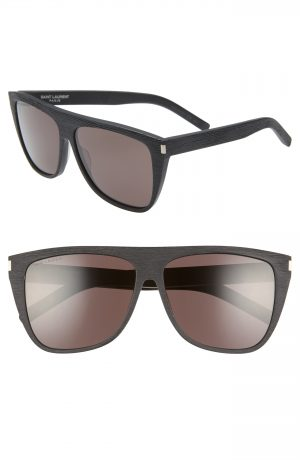 Men's Saint Laurent 59Mm Sunglasses - Black