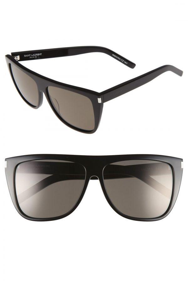 Men's Saint Laurent 'Flattop' 59Mm Sunglasses -