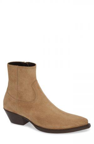 Men's Saint Laurent Lukas 40 Zip Boot, Size 8US / 41EU - Brown