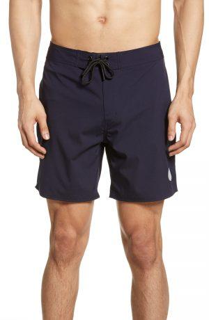 Men's Saturdays Nyc Danny Swim Trunks, Size 28 - Blue