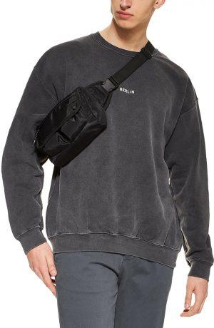 Men's Topman Berlin Sweatshirt, Size Large - Grey