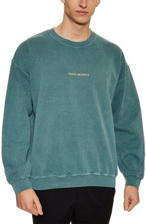 Men's Topman Santa Monica Oversize Sweatshirt, Size Medium - Green